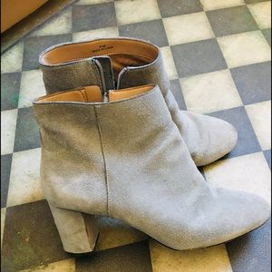 Ankle booties Gray -Brushed Suede✨